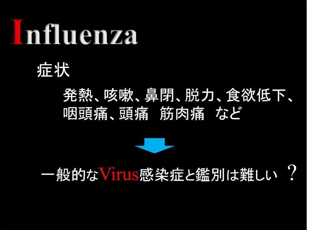 インフルエンザの症状